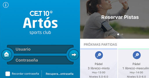 App Artós Pádel